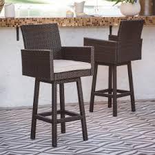 out door bar stools resin wicker outdoor bar stools hayneedle