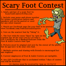 scary foot contest halloween contest scary feet ugly feet