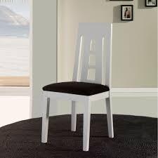 chaise blanc et bois chaise salle à manger en bois blanche x4