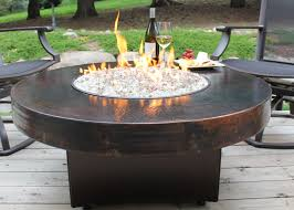 copper fire pit table hammered copper fire pit table