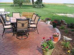 patio 20 awesome concrete backyard ideas 13 stamped concrete