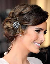 short hair bridal updo hair style and color for woman