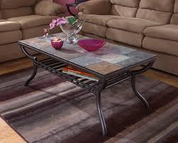 slate wood coffee table ashley furniture t233 1 antigo collection gun metal color metal
