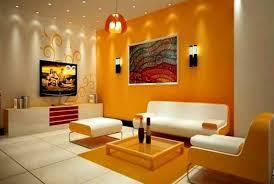 perpaduan warna cat tembok orange dan cream latest match wall