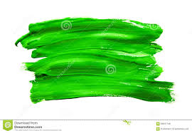Green Paint Paint Brush Stroke Texture Green Watercolor Stock Illustration