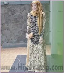 Baju Muslim Brokat 35 model baju dress terbaru 2018 untuk remaja muslim page 2 of 3