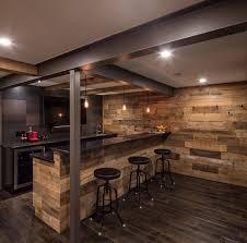 home bar interior steel and wood bar just basements ottawa rustic home bar