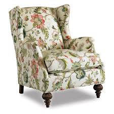 Armchair Upholstery Cost Botanical Print Upholstery Fabric Chair Abington Wing Chair