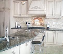 image result for stacked stone backsplash grey and white kitchen