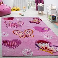 tapis pour chambre de fille tapis pour chambre d enfant papillon 133 cm carré achat