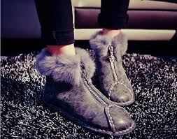 womens waterproof boots payless 2014 warm rabbit fur waterproof winter zip boots