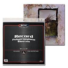 plastic photo album 100 clear plastic lp outer sleeves 3 mil high quality vinyl