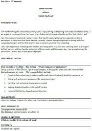 Driver Resume Samples Free by Driver Resume Cv01 Billybullock Us