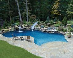 Swimming Pool Backyard Designs Back Yard Swimming Pool Designs Pool U0026 Backyard Designs