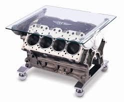bentley coffee table u2013 car engine table base clear glass table