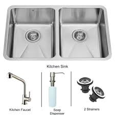 vigo vg15234 all in one 29 undermount stainless steel double bowl