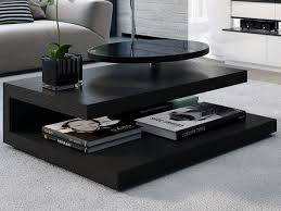 modern black end table the contemporary black multi layered coffee table ta florida
