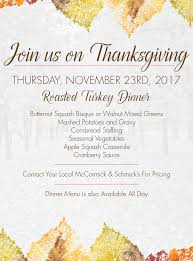 join us on thanksgiving