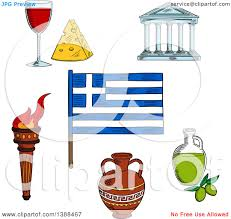 clipart of a sketched greek flag flaming torch ceramic amphora