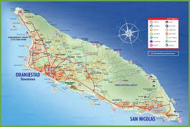 Property Maps Aruba Road Maps Tourist Travel Map Of Aruba Great Journeys