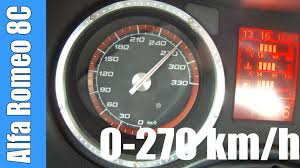 test si e auto groupe 2 3 alfa romeo 8c competizione 0 272 km h acceleration test