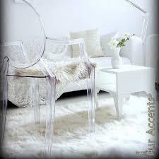 White Accent Rug Plush Faux Fur Accent Rug White Luxury Shag Rectangle Polar