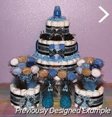 baby boy diaper cakes baby shower table decorations