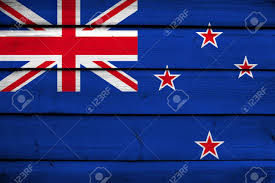 Nee Zealand Flag New Zealand Flag On Wood Background Stock Photo Picture And