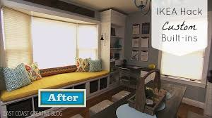Window Seat Bookshelves Ikea Hack Custom Built In Shelves Knock It Off Diy Project