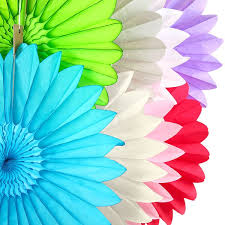 tissue paper fans tissue paper starburst fan assorted colours pipii