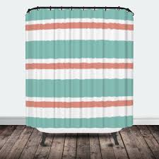 Navy And White Striped Shower Curtain Stripe Shower Curtain