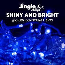 blue led christmas string lights jingle jollys 50 100 led christmas string lights party wedding fairy