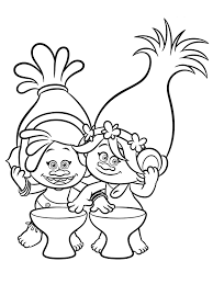 trolls coloring pages to download and print for free colouring