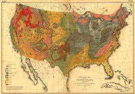Map Of The World Poster by Print Of Geological Map Of The U S Poster On Vintage Visualizations
