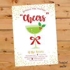 cocktail party invitation christmas cocktail party invitation cheers christmas card