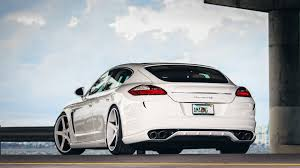 Porsche Panamera All White - download wallpaper 3840x2160 porsche panamera rear view white