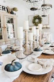 Dining Room Table Centerpiece Decor by Simple U0026 Neutral Fall Farmhouse Dining Room Dining Room Table