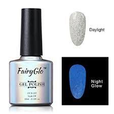 amazon com fairyglo long lasting night glow gel nail polish soak