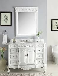 Bathroom Sink And Mirror 48 Antique White Marble Beckham Bathroom Sink Vanity Mirror