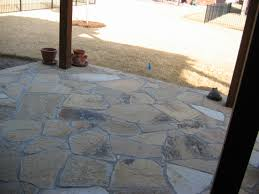 Flagstone Patio On Concrete by Flagstone And Patterned Concrete Patio Hawkins Landscape U0026 Lawn