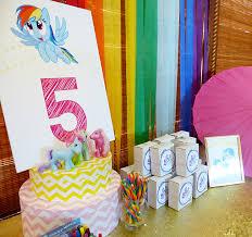 my pony decorations my pony rainbow dash birthday party
