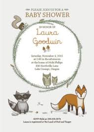 woodland baby shower invitations woodland themed baby shower invitations kawaiitheo
