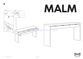 ikea tables malm dressing table 75x17