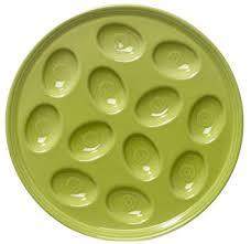 fiestaware egg plate 11 inch egg tray lemongrass kitchen dining