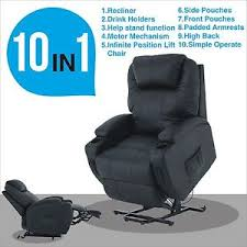 power lift chair real leather recliner armchair wall hugger lounge