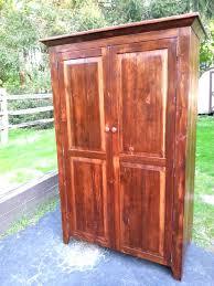 Unfinished Tv Armoire Wardrobes Amish Wardrobe Closet Full Image For Unfinished Pine