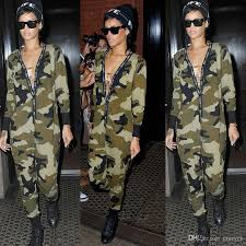 camouflage jumpsuit womens discount 2016 cotton camouflage