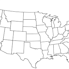 united states map outline blank empty united states map map of usa