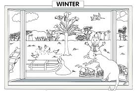 preschool winter coloring page free winter coloring pages of