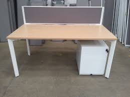 floor mounted desk partition countertop glass wooden office desk